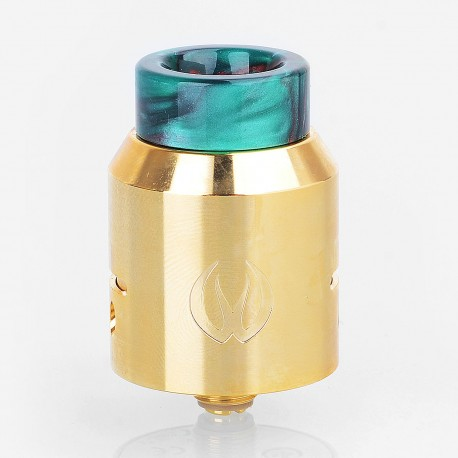 Authentic Vandy Vape Iconic RDA Rebuildable Dripping Atomizer w/ BF Pin - Gold, Stainless Steel, 24mm Diameter