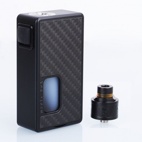 Authentic Hcigar Magic Box BF Squonk Mechanical Mod + Maze V1.1 RDA Kit - Black Carbon Fiber, 8ml, 1 x 18650, 22mm Diameter