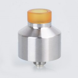 NarCa Style RDA Rebuildable Dripping Atomizer w/ BF Pin - Silver, Stainless Steel, 22mm Diameter