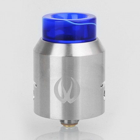 Authentic Vandy Vape Iconic RDA Rebuildable Dripping Atomizer w/ BF Pin - Silver, Stainless Steel, 24mm Diameter
