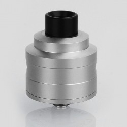 YFTK Le Supersonic Style RDA Rebuildable Dripping Atomizer w/ BF Pin - Silver, 316 Stainless Steel, 24mm Diameter