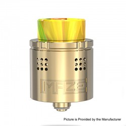 Authentic Vandy Vape Maze Sub Ohm BF RDA Rebuildable Dripping Atomzier - Gold, Stainless Steel, 2ml, 24mm Diameter