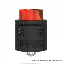 Authentic Vandy Vape Maze Sub Ohm BF RDA Rebuildable Dripping Atomzier - Black, Stainless Steel, 2ml, 24mm Diameter