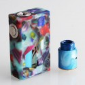 Authentic Aleader Funky Squonk Mechanical Box Mod + BF RDA Kit - Green, Resin + Stainless Steel, 7ml, 1 x 18650, 24mm Diameter