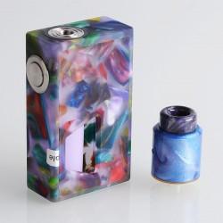 Authentic Aleader Funky Squonk Mechanical Box Mod + BF RDA Kit - Purple, Resin + Stainless Steel, 7ml, 1 x 18650, 24mm Diameter
