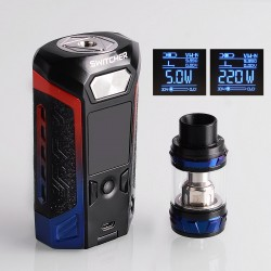 Authentic Vaporesso Switcher LE 220W TC VW Variable Wattage Mod + NRG Tank Kit - Blue + Red, 2 x 18650, 5ml, 26.5mm Diameter