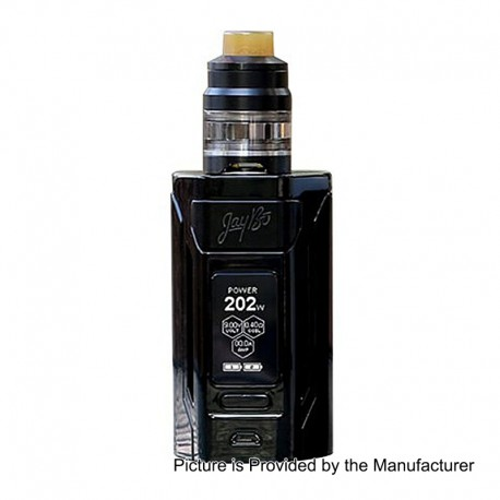 Authentic Wismec Reuleaux RX2 230W TC VW Mod + GNOME Tank Kit - Black, 1~230W, 2 x 18650 / 21700, 2ml / 4ml, 25mm Diameter
