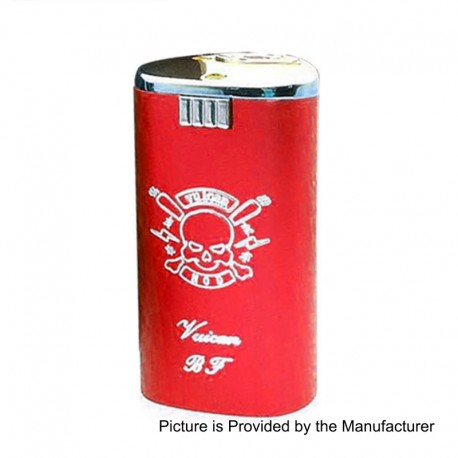 Vulcan Style Squonk Mechanical Box Mod - Red, Aluminum + Zinc Alloy, 8ml, 2 x 18650