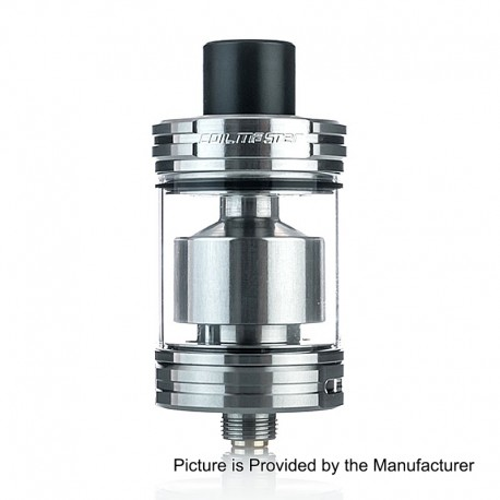 Authentic Coil Master Elfy RTA Rebuildable Tank Atomizer - Silver, Stainless Steel, 2.5ml, 22mm Diameter