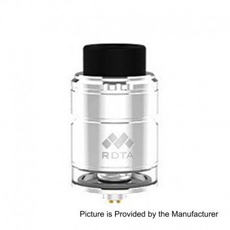 Authentic Vapefly Mesh Plus RDTA Rebuildable Dripping Tank Atomizer TPD Edition - Silver, Stainless Steel, 2ml, 25mm Diameter