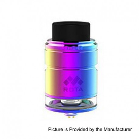 Authentic Vapefly Mesh Plus RDTA Rebuildable Dripping Tank Atomizer TPD Edition - Rainbow, Stainless Steel, 2ml, 25mm Diameter