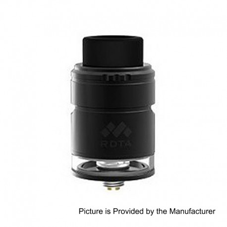 Authentic Vapefly Mesh Plus RDTA Rebuildable Dripping Tank Atomizer TPD Edition - Black, Stainless Steel, 2ml, 25mm Diameter