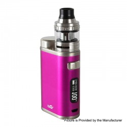 Authentic Eleaf iStick Pico 21700 100W TC VW Box Mod + Ello Tank Kit - Hot Pink, 1~100W, 1 x 18650 / 21700, 2ml, 25mm Diameter