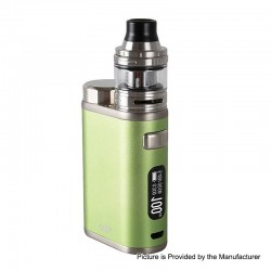Authentic Eleaf iStick Pico 21700 100W TC VW Box Mod + Ello Tank Kit - Greenery, 1~100W, 1 x 18650 / 21700, 2ml, 25mm Diameter