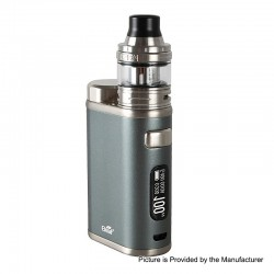 Authentic Eleaf iStick Pico 21700 100W TC VW Box Mod + Ello Tank Kit - Grey, 1~100W, 1 x 18650 / 21700, 2ml, 25mm Diameter