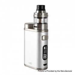 Authentic Eleaf iStick Pico 21700 100W TC VW Box Mod + Ello Tank Kit - Silver, 1~100W, 1 x 18650 / 21700, 2ml, 25mm Diameter