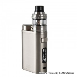 Authentic Eleaf iStick Pico 21700 100W TC VW Box Mod + Ello Tank Kit - Brushed Silver, 1~100W, 1 x 18650 / 21700, 2ml, 25mm Dia.