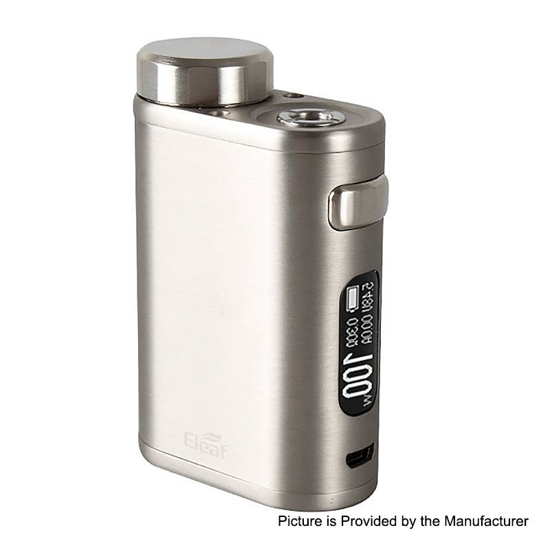 Authentic Eleaf iStick Pico 21700 100W Brushed Silver TC VW Box Mod - $29.99
