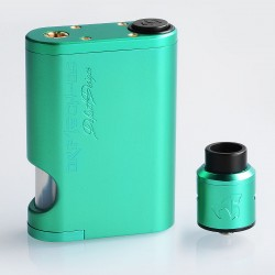 Driptech-DS Style Mechanical Squonk Box Mod + Goon 1.5 Style RDA Kit - Green, 8ml, 2 x 18650, 24mm Diameter