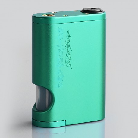 Driptech-DS Style Mechanical Squonk Box Mod - Green, Aluminum, 8ml, 2 x 18650