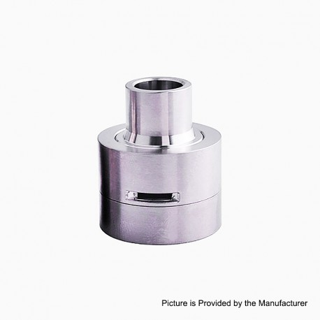YFTK Replacement Top Cap + Drip Tip Kit for M-Atty Style RDA - Silver, Titanium