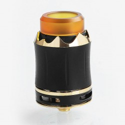 Authentic Cool Vapor Arthur RDA Rebuildable Dripping Atomizer w/ BF Pin - Black, Stainless Steel, 24mm Diameter
