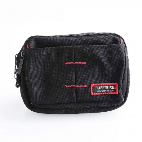 Authentic Vapethink The Dark Knight 2 Carrying Storage Bag for E-cigarette - Black + Red, Polyester, 210 x 145 x 75mm
