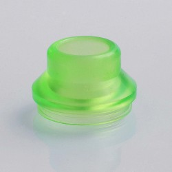 Replacement Wide Bore Drip Tip / Top Cap for 24mm RDA / 24mm Goon RDA - Frosted Green, PC, 15mm