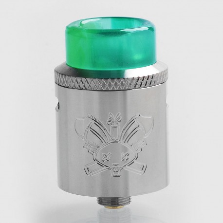 Authentic Hellvape Dead Rabbit SQ RDA Rebuildable Dripping Atomizer w/ BF Pin - Silver, Stainless Steel, 22mm Diameter