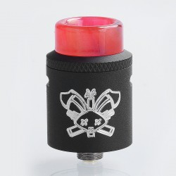 Authentic Hellvape Dead Rabbit SQ RDA Rebuildable Dripping Atomizer w/ BF Pin - Black, Stainless Steel, 22mm Diameter