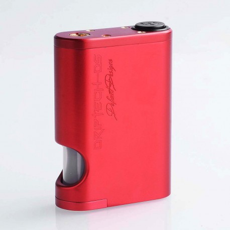 Driptech-DS Style Mechanical Squonk Box Mod - Red, Aluminum, 8ml, 2 x 18650