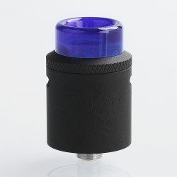 Authentic Hellvape Dead Rabbit SQ RDA Rebuildable Dripping Atomizer w/ BF Pin - Full Black, Stainless Steel, 22mm Diameter