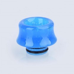 510 Replacement Drip Tip for RDA / RTA / Sub Ohm Tank - Blue, Resin, 12.5mm