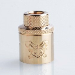 Authentic Hellvape Butcher Challenge Cap for 24mm Dead Rabbit RDA - Brass, Brass