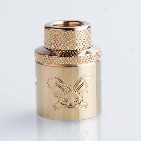 Authentic Hellvape Butcher Challenge Cap for 24mm Dead Rabbit RDA - Brass, Brass