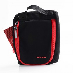 Authentic Vapethink Magic Shark MS Bag for E-cigarette - Black + Red, Polyester, 145 x 175 x 40mm (M)