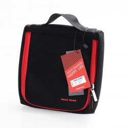 Authentic Vapethink Magic Shark MS Bag for E-cigarette - Black + Red, Polyester, 180 x 195 x 40mm (L)