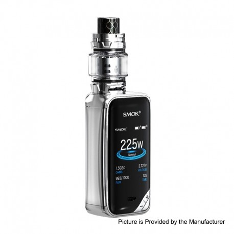 Authentic SMOKTech SMOK X-Priv 225W TC VW Box Mod + TFV12 Prince Standard Kit - Prism Chrome, 1~225W, 2 x 18650, 8ml, 28mm Dia.