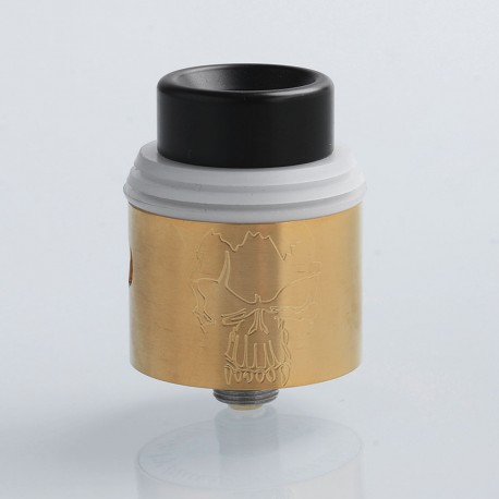 Redemption Style RDA Rebuildable Dripping Atomizer - Gold, Stainless Steel, 24mm Diameter