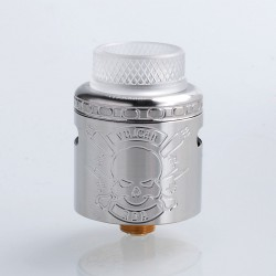 Vulcan Style RDA Rebuildable Dripping Atomizer w/ BF Pin - Silver, Stainless Steel, 24mm Diameter