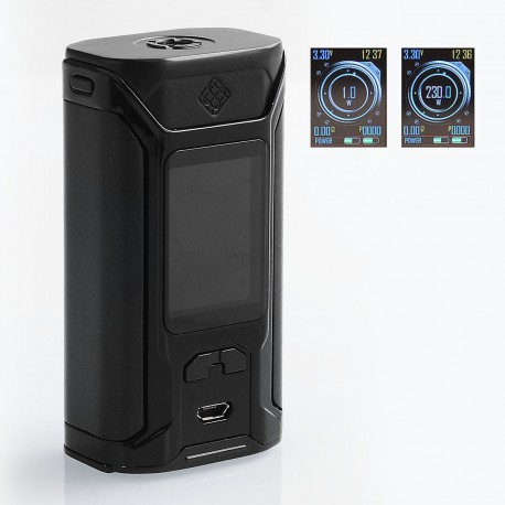 Authentic Wismec SINUOUS RAVAGE230 230W TC VW Variable Wattage Box Mod - Black, 1~230W, 2 x 18650