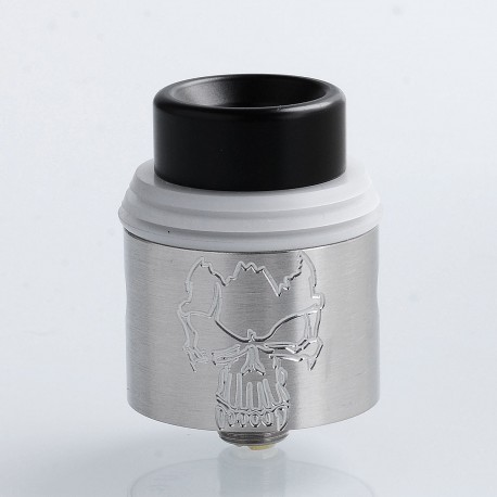 Redemption Style RDA Rebuildable Dripping Atomizer - Silver, Stainless Steel, 24mm Diameter
