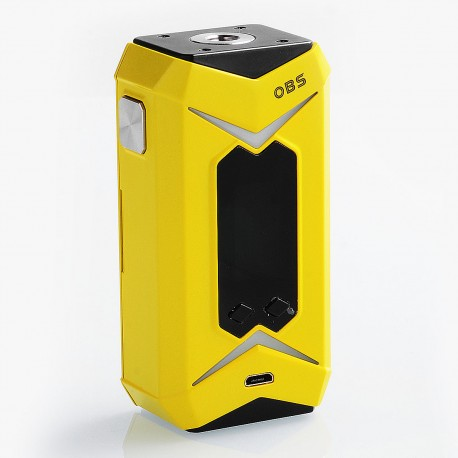 Authentic OBS Bat 218W TC VW Variable Wattage Box Mod - Yellow, 7~218W, 2 x 18650