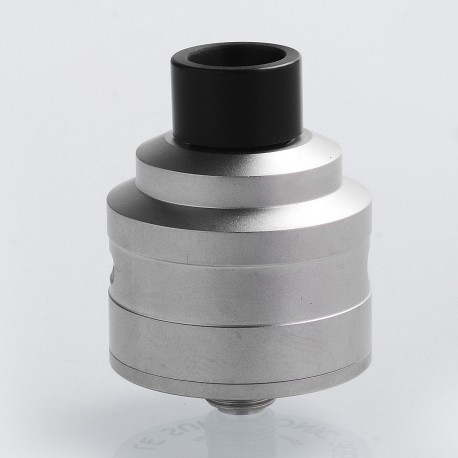 SXK Le Supersonic Style RDA Rebuildable Dripping Atomizer w/ BF Pin - Silver, 316 Stainless Steel, 24mm Diameter