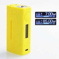 Authentic Tesla WYE 85W TC VW Variable Wattage Box Mod - Yellow, ABS + PC, 7~85W, 1 x 18650