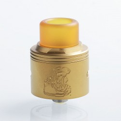 Authentic Coppervape Hippo RDA Rebuildable Dripping Atomizer w/ BF Pin - Gold, 316 Stainless Steel, 24mm Diameter