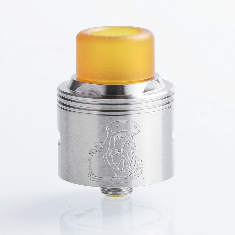 Authentic Coppervape Hippo BF RDA Silver 316SS 24mm Atomizer - $12.99