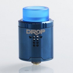 Authentic Digiflavor DROP RDA Rebuildable Dripping Atomizer w/ BF Pin - Blue, Stainless Steel, 24mm Diameter