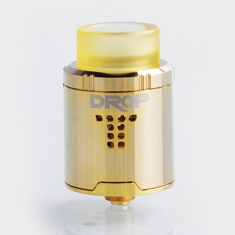 Authentic Digiflavor DROP RDA Rebuildable Dripping Atomizer w/ BF Pin - Gold, Stainless Steel, 24mm Diameter