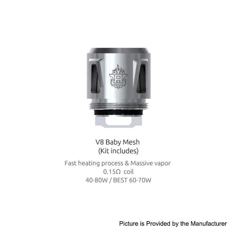 Authentic Smok V8 Baby Mesh 0 15ohm Coil For Tfv12 Baby